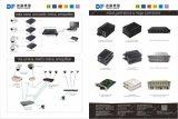 conversor dos media da fibra óptica da fibra Sc20km da manutenção programada de 10/100/1000m único com 2 portas RJ45