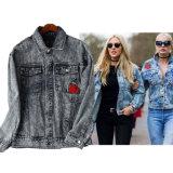 Ветер картины американского заказа ориентированный на заказчика вышитый Rose нейтральный и свободная куртка джинсовой ткани