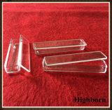 70*15*10mm bandejas de cristal de cuarzo transparente con tapa de la hoja plana