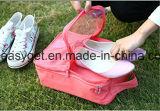 El bolsillo respirable portable de la bolsa del almacenaje del organizador del bolso de los zapatos para el recorrido 3 pares de zapatos, bolso de la gimnasia, compone el bolso Esg10265