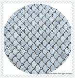 China White Bianco mosaico de mármol de Carrara para decoración de pared