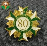 Souvenir Gold Leaf Épinglette de métal avec logo imprimante