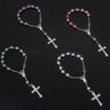Braccialetto del rosario, punto cattolico, un rosario di decade (IO-CE089)