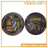 Изготовленный на заказ монетки монетки/сувенира подарка золота с границей колеса (YB-SM-69)