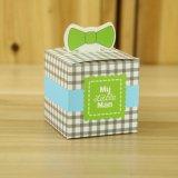 나의 작은 남자 귀여운 콧수염 돛 축하 생일 소년 베비 샤워 호의는 선물 상자 세례 당 기념품을 상자에 넣는다