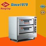 Honglingの卸売価格2のデッキ4の皿の電気パン屋オーブン