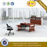 Metal Leg Cupboard Attached Wooden Computer Office Desk (HX-CRY007)