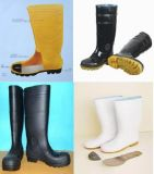Ботинок безопасности человека, ботинок безопасности PVC, ботинок дождя человека безопасности
