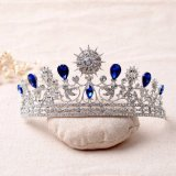 Fashion Suite Wedding Rhinestone Crystal Alça Cabelo Pente Coroa Tiara Prom Pageant (CR-03)