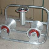 Rodas de nylon de alumínio Rolo cabo triplo, Ferramentas de polia do cabo