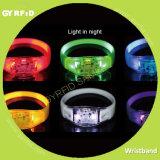 Bracelet de Wrs21 DEL avec l'IDENTIFICATION RF, bracelets de garantie pour les événements (GYRFID)