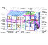 1軒の階のプレハブの家の計画