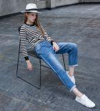 Протягиванные джинсыы женщин изготовления джинсыов способа джинсовой ткани светло помытые самые последние