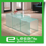Juegos de mesa de vidrio esmerilado de caída en el embalaje