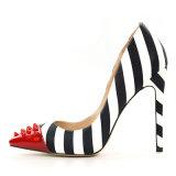 Модные Sexy Stiletto натуральная кожа высокого каблука Дамы платье обувь насосы