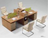 La estación de trabajo modernos de madera Equipo modular Mesa despacho