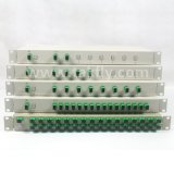 ISO19001 Compliant 1X2 Rack Mount Fiber Optic PLC Splitter