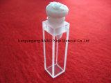 Fluorometer cubeta de quartzo com rolha