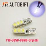 우수한 질 12V 24V W5w T10 5050 6SMD 수정같은 빛 LED 전구