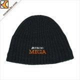 Cappelli lavorati a maglia Beanie merino del ricamo di inverno delle lane di 100% (166001BE)