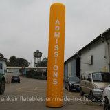 Colonna gonfiabile del tubo variopinto del cielo o di colore puro per fare pubblicità