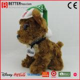 Brinquedo macio do cão feito sob encomenda do luxuoso do animal enchido da promoção para crianças