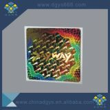 Collant dynamique d'Anti-Article truqué d'étiquette d'hologramme de laser de garantie de la coutume 3D