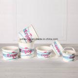 習慣によって印刷される使い捨て可能なペーパーアイスクリームのコップ