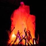 Fake decoración fuego artificial de la luz de la llama de la seda