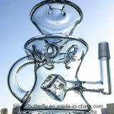 La nuova LIMANDA favolosa mezza di figura dell'uovo dei tubi di acqua di disegno attrezza il tubo di vetro di Perc del riciclatore unito maschio di 14.5mm con la protezione del carburatore del Banger del quarzo