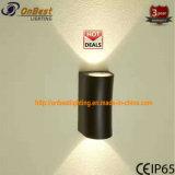 Lámpara LED de arriba abajo 2X6w de pared LED de luz en la norma IP65