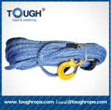 """Tough Rope 95FT X 3/8 """" Synthetic Winch Rope Line Cables 20500lbs W Protective Sleeve ATV UTV Truck Boat"""
