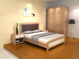 現代ベッドかNightstandの木のホテルの寝室の家具セット