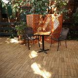 Azulejos de madera directos del surco de la lengüeta del balcón del drenaje del agua de la oferta de la fábrica y de la cubierta del tablón de Pasillo que suelan diseño de madera de la casa que se enclavija