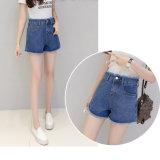 Nueva señora Jeans del cortocircuito de la manera con la pretina y la parte inferior especiales (HDLJ0037-17)