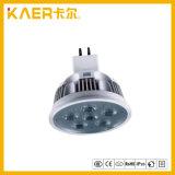 taza de aluminio de la lámpara del poder más elevado LED de 5W MR16