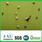 Partie supérieure du comptoir verte de pierre de quartz de stratifié d'étincelle
