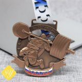 Professional Custom Metal Race Running Vent Competition Medal with Ribbons Maker