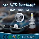 C6 갱신 자동 LED 전구 H4 차 LED 헤드라이트 (H1, H7, H8, H9, H11, 9006, 9005)