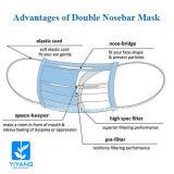 Maschera di protezione non tessuta di Nosebar del nuovo doppio di stile con Earloop