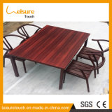 Outdoor Dining Furniture Garden Leisure Plastic Wooden Chair and Table