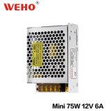 Bloc d'alimentation 110V 220V Swtich 12V à sortie unique 75W SMP de Weho