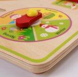 아이를 위한 나무로 되는 교육 배우는 시계 장난감