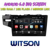 """Witson 10.2 """" Grote Androïde 6.0 Auto van het Scherm DVD voor LinkerBestuurder van de Jazz van Honda de Geschikte"""