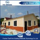 Prefabricados casas de lujo de hacer el panel de pared de cemento de EPS