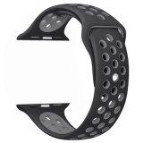 Appleの腕時計シリーズのための二重カラーシリコーンストラップバンド3/2/1のスポーツの輪ゴムのブレスレット