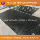 Plaque de carbure de chrome pour la position de dragline