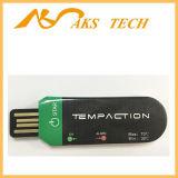 処分の表示が付いている小型温度データ自動記録器