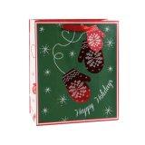 크리스마스 빨간 부대 작은 장갑 패턴 종이 봉지, 선물 종이 봉지