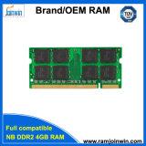 RAM DDR2 de l'ordinateur portatif 200pin 4GB avec les puces initiales